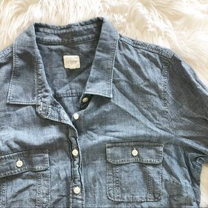 J. Crew Tops - J Crew button down denim shirt